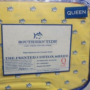 New Southern Tide Queen size sheet set Yellow